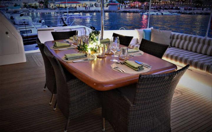 OHANA catamaran yacht charter aft-deck