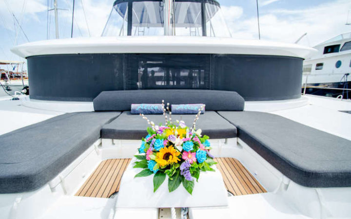 ALICE catamaran yacht charter bow