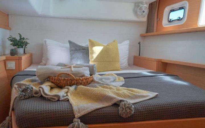 Luna catamaran yacht charter cabin-1