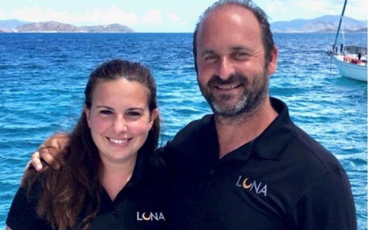 Luna catamaran yacht charter crew