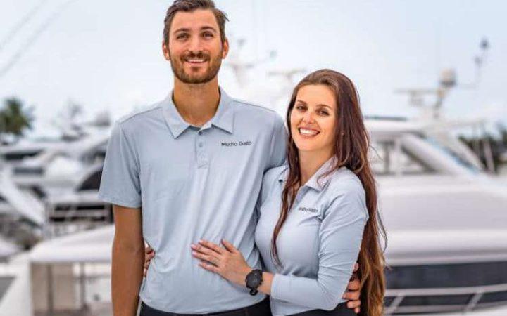MUCHO GUSTO power catamaran yacht charter crew