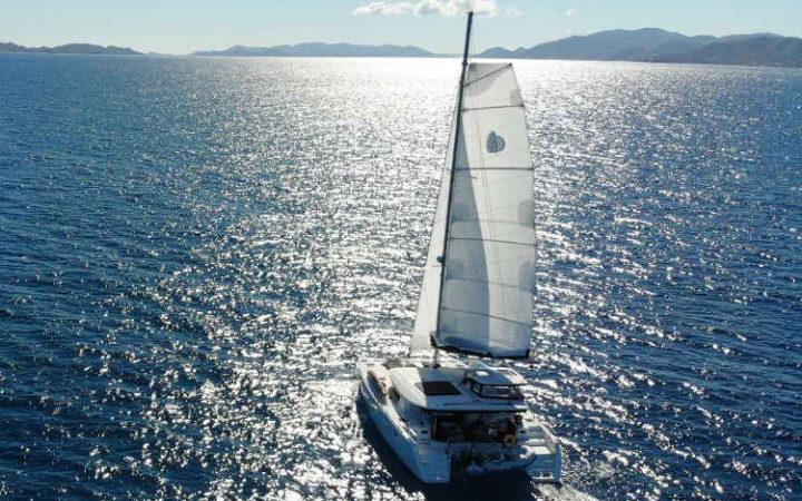 Luna catamaran yacht charter exterior