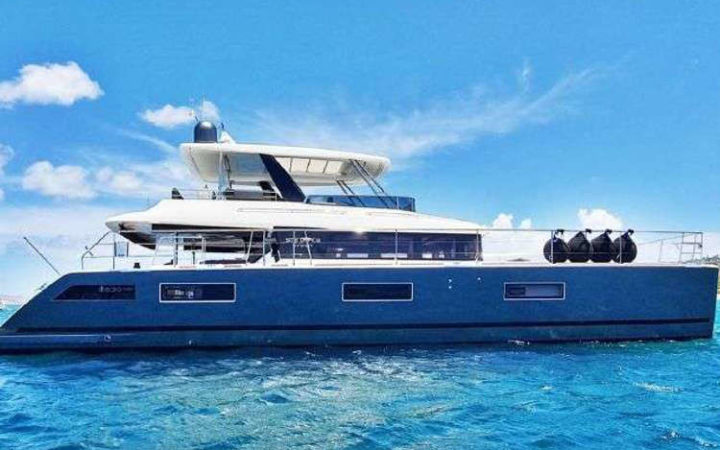 MARE BLU power catamaran yacht charter exterior