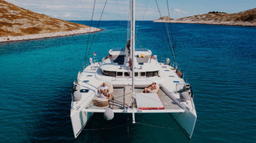 MALA catamaran yacht charter exterior