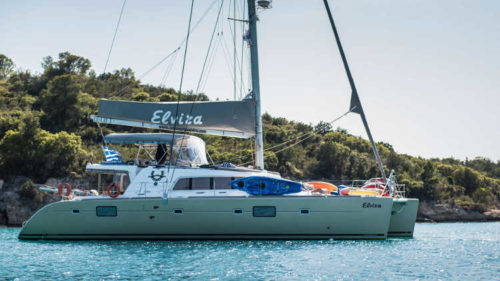 ELVIRA catamaran yacht charter exterior