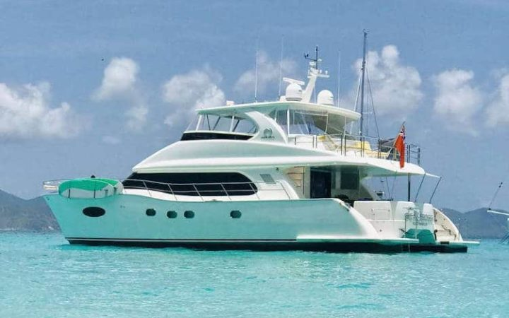 SEA BOSS power catamaran yacht charter exterior OHANA catamaran yacht charter cruising Caribbean Virgin Islands - Top yacht charter destination