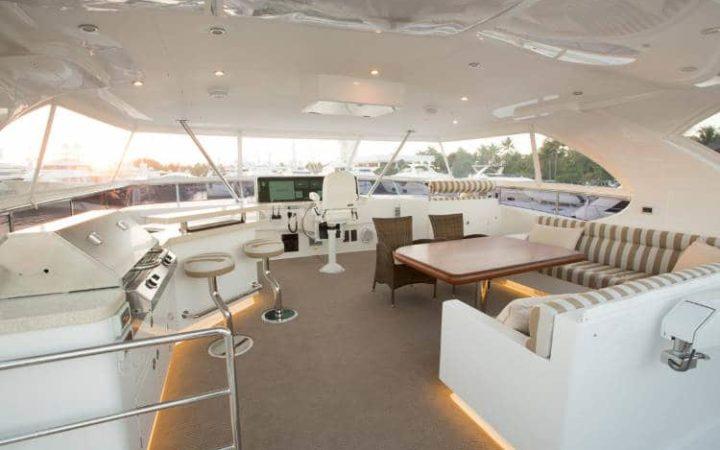 OHANA catamaran yacht charter fly-bridge