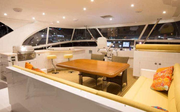 SEA BOSS power catamaran yacht charter fly-bridge