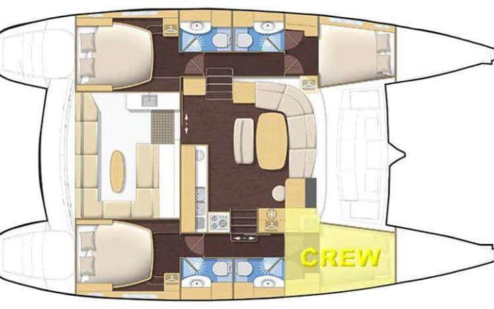 ALIZÉ catamaran yacht charter layout