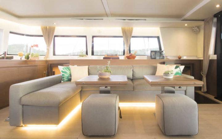 MAHASATTVA catamaran yacht charter - saloon