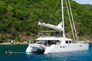 Crewed catamaran yacht charter
